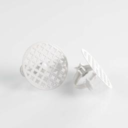 2 embrasses pince (0) 7 cm metal peint rondoline Blanc