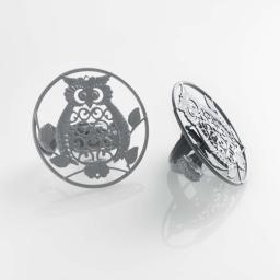 2 embrasses pince (0) 8 cm metal peint gufo Gris