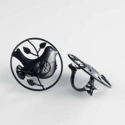 2 embrasses pince (0) 8 cm metal peint passero Noir