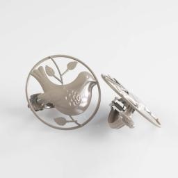 2 embrasses pince (0) 8 cm metal peint passero Taupe