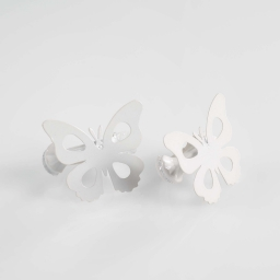 2 embrasses pince 7 x 5.8 cm metal peint papillando Blanc