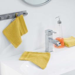 2 gants de toilette 15 x 21 cm eponge unie vitamine Miel