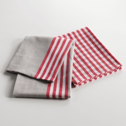 2 torchons 50 x 70 cm coton tisse chef etoile Rouge
