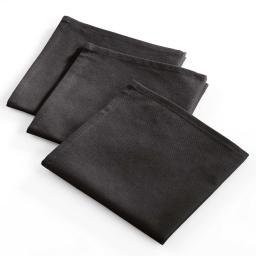 3 serviettes 40x40 coton uni brunch Noir