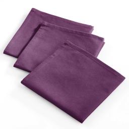 3 serviettes 40x40 coton uni miam Prune