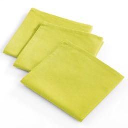 3 serviettes 40x40 coton uni radis Vert