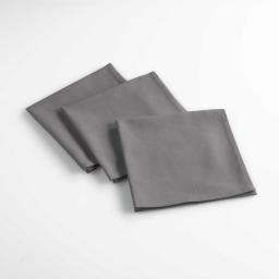 3 serviettes de table 40 x 40 cm coton uni aubeline Anthracite