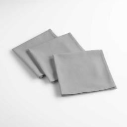 3 serviettes de table 40 x 40 cm coton uni aubeline Gris