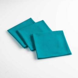 3 serviettes de table 40 x 40 cm coton uni aubeline Indigo
