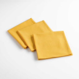 3 serviettes de table 40 x 40 cm coton uni aubeline Jaune
