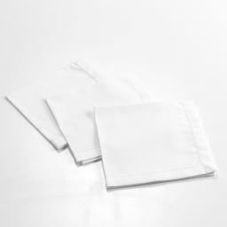 3 serviettes de table 40 x 40 cm coton uni charline Blanc