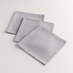 3 serviettes de table 40 x 40 cm coton uni epicurien Gris