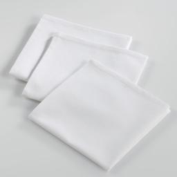3 serviettes de table 40 x 40 cm coton uni ideale Blanc