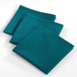 3 serviettes de table 40 x 40 cm coton uni ideale Bleu