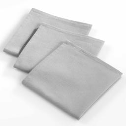 3 serviettes de table 40 x 40 cm coton uni ideale Gris