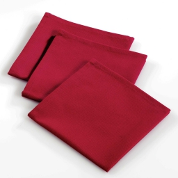 3 serviettes de table 40 x 40 cm coton uni ideale Rouge