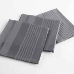 3 serviettes de table 40 x 40 cm jacquard damasse smart Anthracite