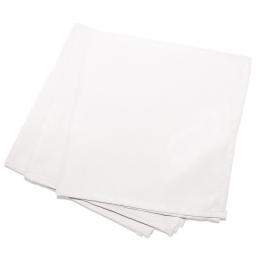 3 serviettes de table 40 x 40 cm polyester uni essentiel Blanc