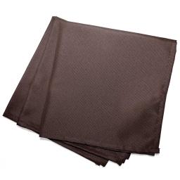 3 serviettes de table 40 x 40 cm polyester uni essentiel Brun