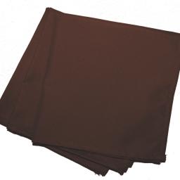 3 serviettes de table 40 x 40 cm polyester uni essentiel Chocolat