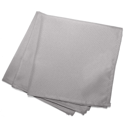 3 serviettes de table 40 x 40 cm polyester uni essentiel Gris