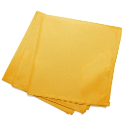 3 serviettes de table 40 x 40 cm polyester uni essentiel Jaune