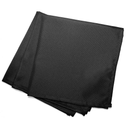 3 serviettes de table 40 x 40 cm polyester uni essentiel Noir