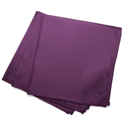 3 serviettes de table 40 x 40 cm polyester uni essentiel Prune