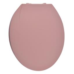Abattant wc 48 x 34 cm plastique vitamine Rose poudre