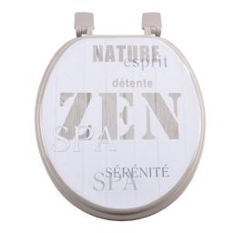 abattant wc mdf charnieres plastique 37*h39.5cm zen wood