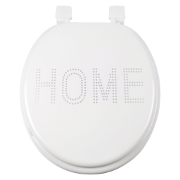 abattant wc mdf charnieres plastique glitter home blanc