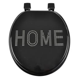 abattant wc mdf charnieres plastique glitter home noir