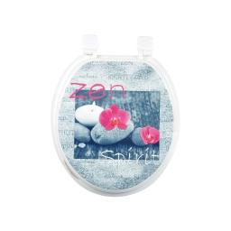 abattant wc mdf douceur d'interieur theme zen spirit charnieres plastiques
