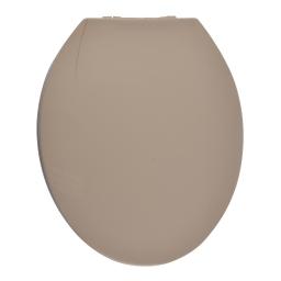 Abattant wc plastique  douceur charnieres plastique theme vitamine Taupe