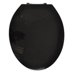abattant wc plastique noir charnieres plastique theme vitamine
