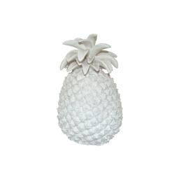 ananas polyresine 13*13*h20.5cm blanc