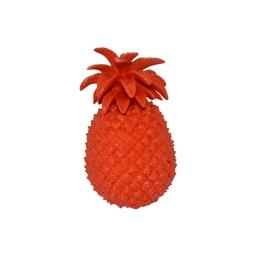 ananas polyresine 13*13*h20.5cm rouge