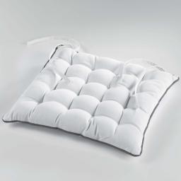 Assise matelassee 38 x 38 cm coton uni ideale Blanc