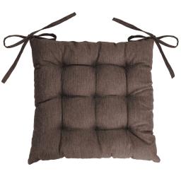 Assise matelassee 40 x 40 cm chambray uni newton Choco