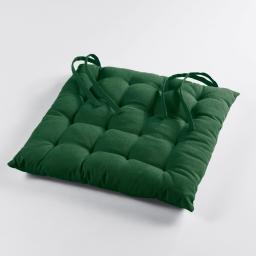 Assise matelassee 40 x 40 cm coton uni pacifique Vert
