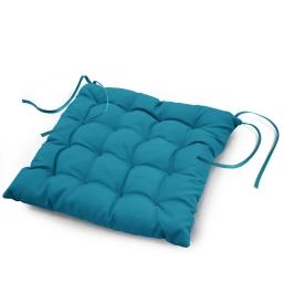 Assise matelassee 40 x 40 cm polyester uni essentiel Bleu