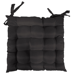 Assise matelassee 40 x 40 cm polyester uni essentiel Noir