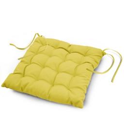 Assise matelassee 40 x 40 cm polyester uni essentiel Tilleul