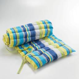 Bain de soleil 60 x 180 cm coton imprime marina Bleu