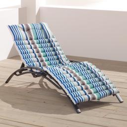 Bain de soleil 60 x 180 cm coton imprime matelot Bleu