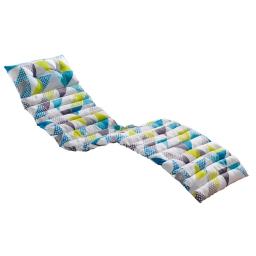 Bain de soleil 60 x 180 cm coton imprime triangles Vert