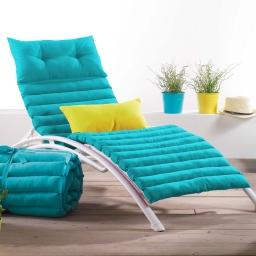 Bain de soleil 60 x 180 cm coton uni pacifique Turquoise