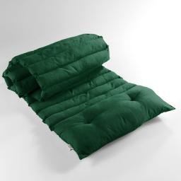 Bain de soleil 60 x 180 cm coton uni pacifique Vert