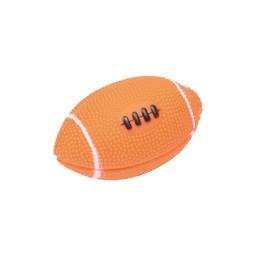 balle de rugby pour chien en pvc - orange - 11*6cm