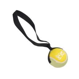 balle de tennis ø 6cm avec poignee 27cm polyester et caoutchouc
